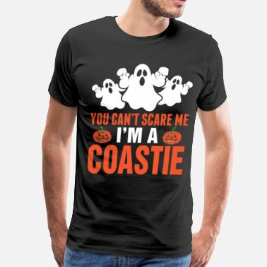 You Cant Scare Me You Cant Scare Me Im A Coastie - Men's Premium T-Shirt