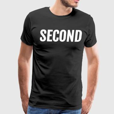 2nd Second Large Text Funny Winning Ironic Award TEXT - Men's Premium T-Shirt
