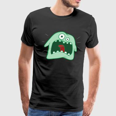 Monster Angry Happy Monster Big Smile Costume Funny Halloween Two Eye - Men's Premium T-Shirt