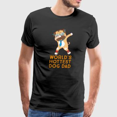 World's Hottest Dog Dad gift for Fathers Day - Men's Premium T-Shirt