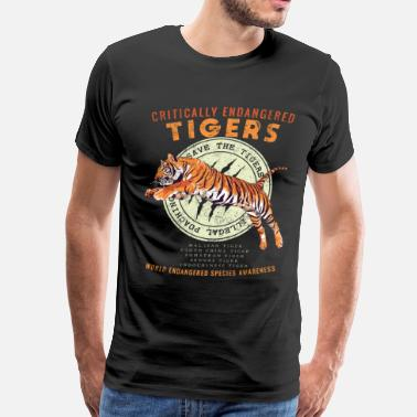 Save Save the Tigers - Endangered Species Awareness - Men's Premium T-Shirt