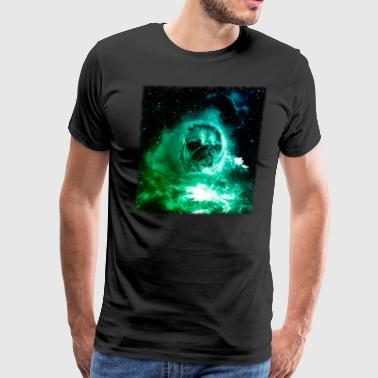 Pug In Space Shirt Pug Astronaut Galaxy Cosmic Trippy Tshirt - Men's Premium T-Shirt