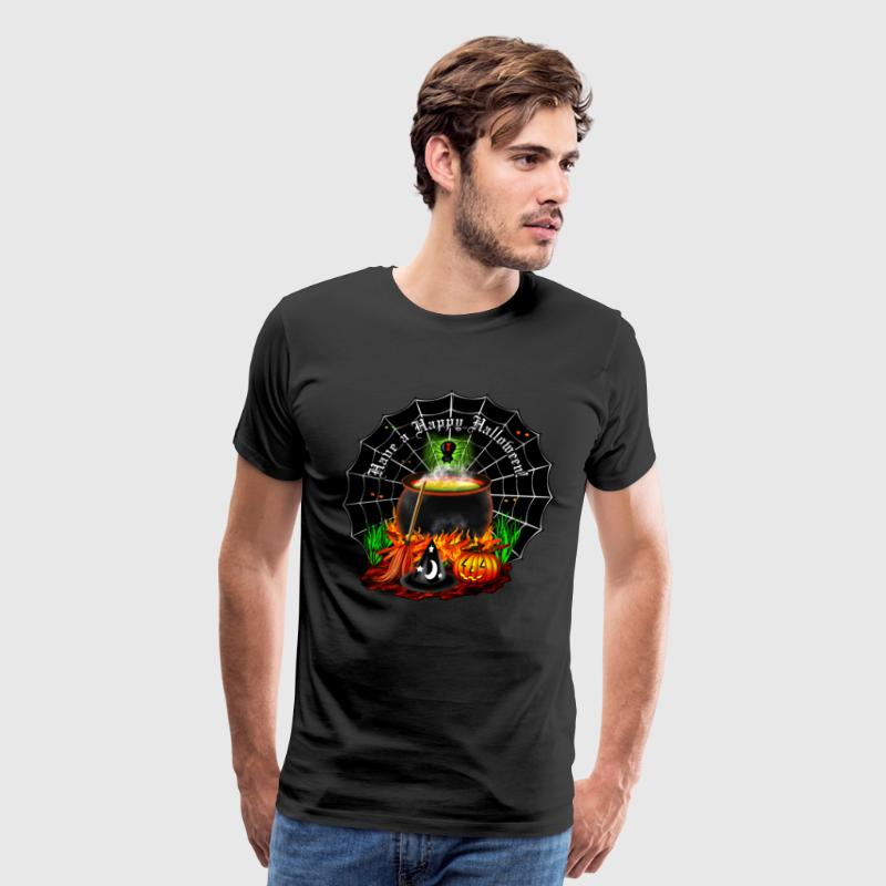 Halloween Cauldron - Men's Premium T-Shirt