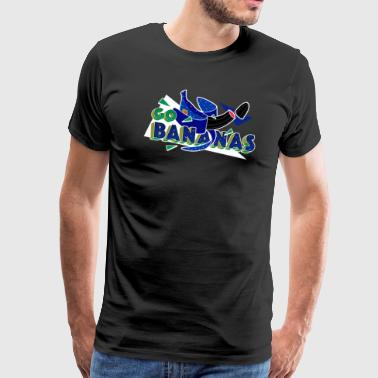 Rustic Go Banana's Good Old Times Born In The 90s Retro Rustic - Men's Premium T-Shirt
