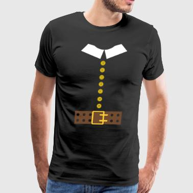 thanksgiving day, THANKSGIVING PILGRIM - Men's Premium T-Shirt