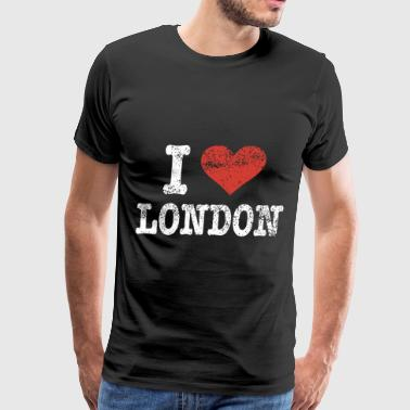 I love London patriotic t shirts - Men's Premium T-Shirt