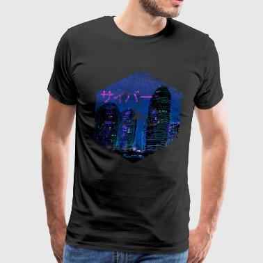 Cyberpunk Architecture - Manga Abstract Japan - Men's Premium T-Shirt