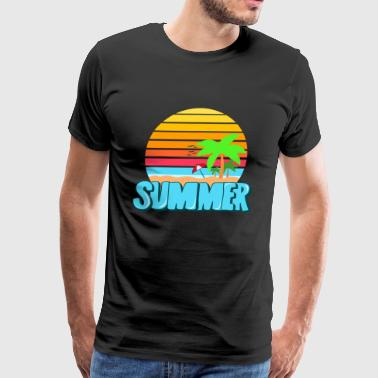 Summer lettering Colorful - Men's Premium T-Shirt