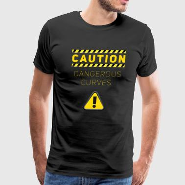 dangerous curves attention Curvy Body - Men's Premium T-Shirt