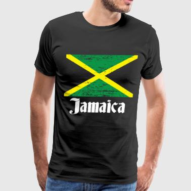 Distressed Jamaican Country Flag Jamaica Pride Jam - Men's Premium T-Shirt