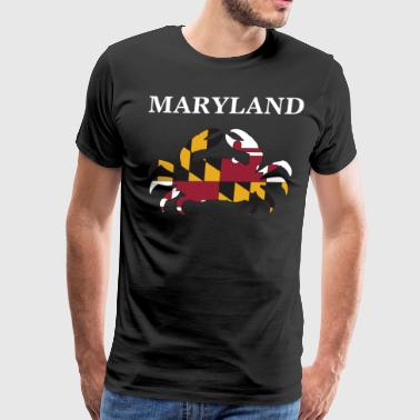 Maryland State Maryland Flag Crab Art Blue Crab - Men's Premium T-Shirt