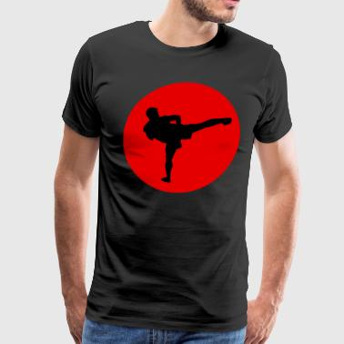 Funny Karate Design Karate Silhouette Japan Light - Men's Premium T-Shirt