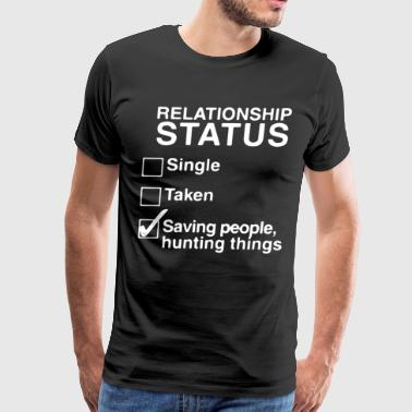 RELATIONSHIP STATUS LADIES WINCHESTER BROTHERS SUP - Men's Premium T-Shirt
