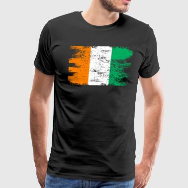 Ivory Ivory Coast Shirt Gift Country Flag Patriotic Travel Africa Light - Men's Premium T-Shirt