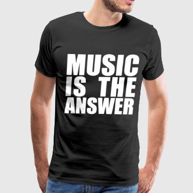 Music Is The Answer Printed Black New Mens Womens - Men's Premium T-Shirt