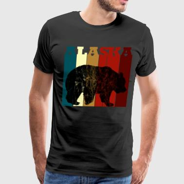 Alaska Bear Vintage Colors Retro - Men's Premium T-Shirt