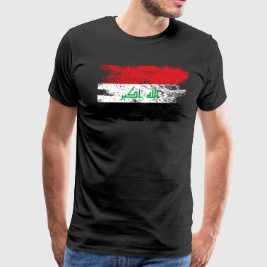 Iraq Shirt Gift Country Flag Patriotic Travel Asia Light - Men's Premium T-Shirt