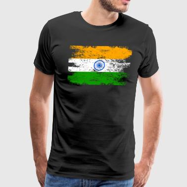 India Shirt Gift Country Flag Patriotic Travel Asia Light - Men's Premium T-Shirt
