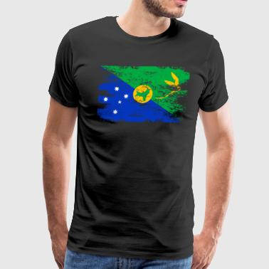 Christmas Island Shirt Gift Country Flag Patriotic Travel Asia Light - Men's Premium T-Shirt