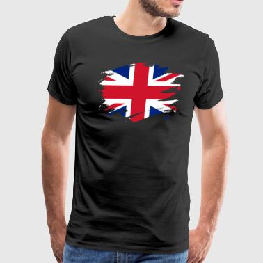 Britain Paint Splatter Flag British Pride Design - Men's Premium T-Shirt
