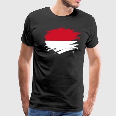 Indonesia Paint Splatter Flag Indonesian Pride Design - Men's Premium T-Shirt