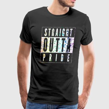Straight Outta Pride Paint Splatter Rainbow LGBT - Men's Premium T-Shirt