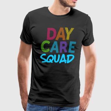 Daycare Squad Blue Light Gift Home Child Care Provider Teacher Gift - Men's Premium T-Shirt
