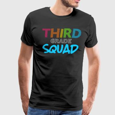 Squad Third Grade Blue Light Funny Third Grade 3rd Teacher Appreciation Gift - Men's Premium T-Shirt
