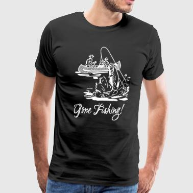Ecstasy Gone Fishing Fish Vintage Kayak - Men's Premium T-Shirt