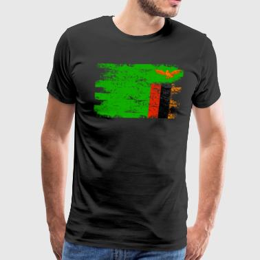 Zambia Shirt Gift Country Flag Patriotic Travel Africa Light - Men's Premium T-Shirt
