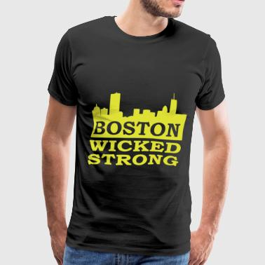 Boston Wicked Strong Marathon Boston Marathon Bost - Men's Premium T-Shirt