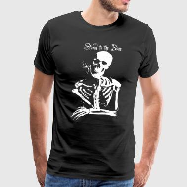Skeleton Dope Cannabis Joint Spliff Stoned - Men's Premium T-Shirt