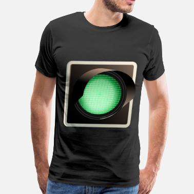 Traffic-light-green green traffic light - Men's Premium T-Shirt
