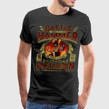Barbarian Battle Hammer Bourbon - Men's Premium T-Shirt