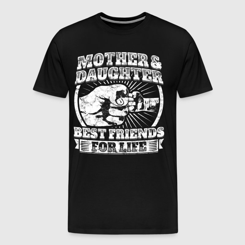 Mother And Daughter Gift Family Dad Fist Bump Tee - Men's Premium T-Shirt