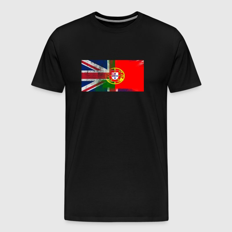 British Portuguese Half Portugal Half UK Flag - Men's Premium T-Shirt