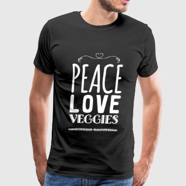Vegetarian - Peace love veggies - Men's Premium T-Shirt