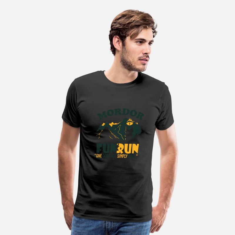 Love T-Shirts - RUN - Mordor FUN RUN - Men's Premium T-Shirt black