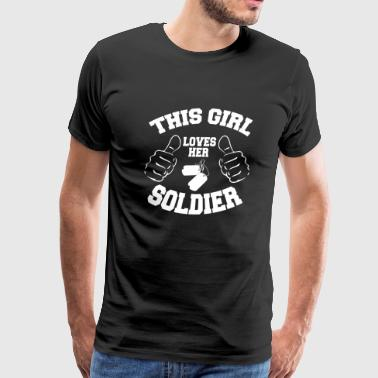 Soldier - this girl loves her soldier - Men's Premium T-Shirt