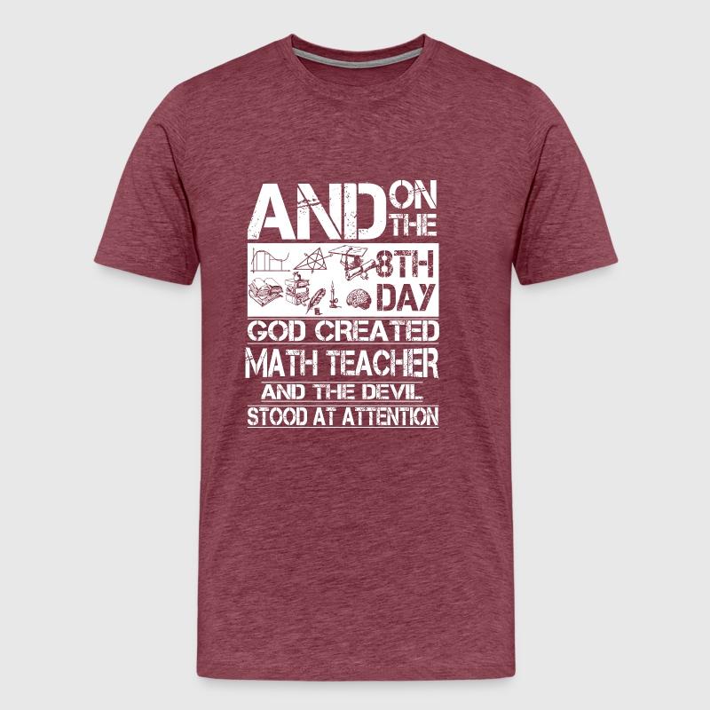 MATH TEACHER - GOD CREATED MATH TEACHER by   Spreadshirt