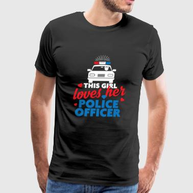 Police Officer - This girl Police Officer - Men's Premium T-Shirt