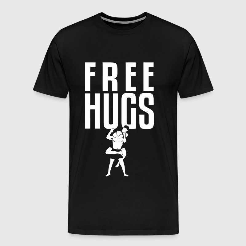 Bjj - Free Hugs Jiu Jitsu BJJ MMA Grappling Rear - Men's Premium T-Shirt