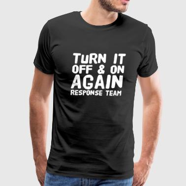 The IT Crowd - Turn It Off - Men's Premium T-Shirt