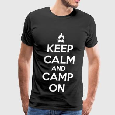 Camping - Keep calm and camp on - Men's Premium T-Shirt