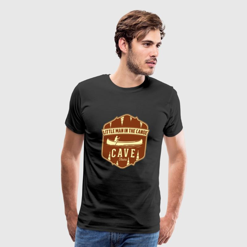 Canoe - Little Man In The Canoe Cave Tours - Men's Premium T-Shirt