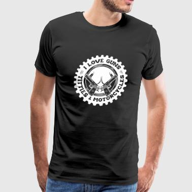 Guns - I Love Guns - Men's Premium T-Shirt