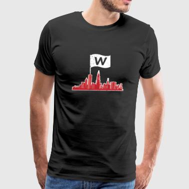 Chicago fly the W flag T - shirt - Men's Premium T-Shirt
