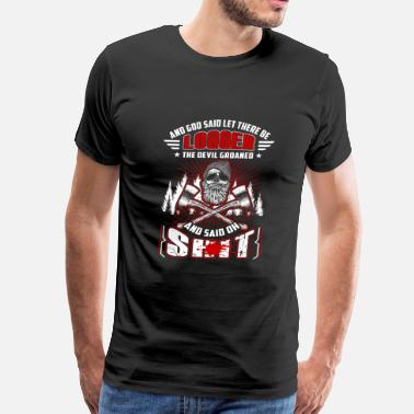 Groan Logger - the devil groaned and said oh shit - Men's Premium T-Shirt