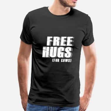 Cow Lover Cow - free hugs for cows - cow lover - Men's Premium T-Shirt