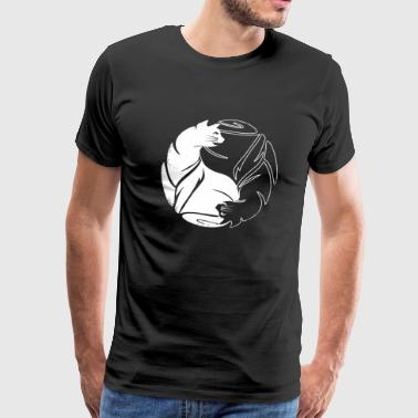 Yin Yang Cat - Yin Yang Cat - Men's Premium T-Shirt